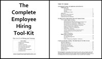 Employee Hiring Tool Kit